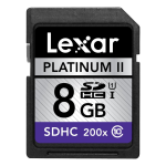 Lexar Secure Digital Card 8GB Platinum II 200x SDHC Class 10 - LSD8GBBSBNA200C1