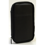 Ventev genuine leather travel pouch Black/Black