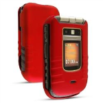 Sprint soft touch snap on case for Motorola i686 - Red