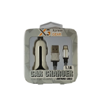 Xpress Gear Car Charger for iPhone5. White&Black