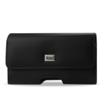 Reiko Horizontal Pouch Black Leather SAMNOTE2
