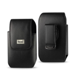Reiko Vertical Pouch Black Leather HTC HD2