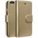 Madison Flip Case for iPhone7 Plus. Gold