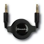Qmadix 3.5mm/3.5mm Retractable Auxiliary Audio Cable