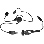 Light weight headset with PTT and plug and play TA