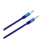 Reiko - Stereo Male/Male Audio Cable 3.5mm Gold Plated - Blue