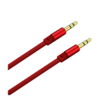 Reiko - Stereo Male to Male Audio Cable 3.5mm Gold-Plated Connector - Red
