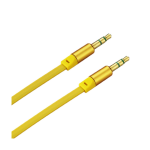 Reiko - Stereo Male to Male Audio Cable 3.5mm Gold-Plated Connector - Yellow