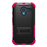 MOTOROLA MOTO X TRISHIELD CASE - BLACK/HOT PINK