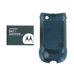 OEM Motorola Rapture VU30 Extended Battery and Door (BN11) (Bulk Packaging)