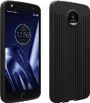Verizon Textured Silicone Case for Moto Z Play Droid - Black