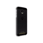 Verizon Two-Tone Bumper Silicone Case for Motorola Moto Z Droid - Clear