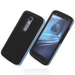Incipio Performance Series Level 5 Case with Holster and Screen Protector for Motorola Droid Turbo 2 (Blue/Black)