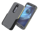 Incipio Performance Level 5 Holster Case for Motorola Droid Turbo 2 - Grey/Yellow