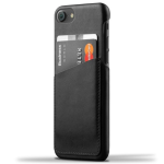 Mujjo Leather Wallet Case for Apple iPhone 7/8 - Black