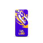 Mizco Sports NCAA Oversized Snapback TPU Case for Apple iPhone 5 / 5S / SE (LSU Tigers)