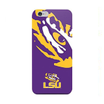 Mizco Sports NCAA Oversized Snapback TPU Case for Apple iPhone 6 / 6S (LSU Tigers)