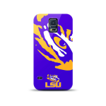 Mizco Sports NCAA Oversized Snapback TPU Case for Samsung Galaxy S5 (LSU Tigers)