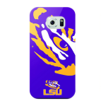 Mizco Sports NCAA Oversized Snapback TPU Case for Samsung Galaxy S6 (LSU Tigers)