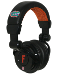 iHip - Officially Licensed NCAA Florida Gators Pro DJ Headphones with Microphone