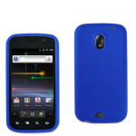 Hard Rubberized Anti-Slip Grip Snap On Case/Cover for Samsung Galaxy Nexus i9250 (Navy Blue)