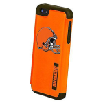 National Football League 2 Piece Dual Hybrid Case for Apple iPhone 5 / 5S (Cleveland Brown)