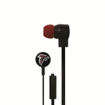 Mizco Licensed NFL 3.5MM Stereo Earbuds. Atlanta Falcons