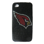 Unlimited Cellular NFL Glitz Case for Apple iPhone 4/4S (Full Diamond Crystal, Arizona Cardinals)