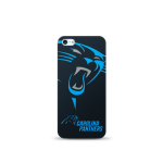 Mizco Sports NFL Oversized Snapback TPU Case for Apple iPhone 5 / 5S / SE (Carolina Panthers)