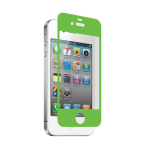 zNitro Nitro Glass Tempered Glass Screen Protector for Apple iPhone 4 / 4S (Green)