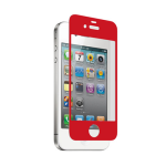 zNitro Nitro Glass Tempered Glass Screen Protector for Apple iPhone 4 / 4S (Red)