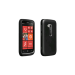 Verizon Wireless High Gloss Silicone Cover for Nokia Lumia 822 - Black