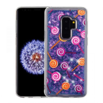 SAMSUNG GALAXY S9 PLUS ASMYNA LOLLIPOP AND PURPLE QUICKSAND (HEARTS) GLITTER HYBRID COVER