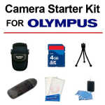 Olympus Digital Camera Kit Mini Tri-Pod 4GB Bag