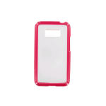 Technocel Hybrigel Case for LG LS696 Optimus Elite - Pink/Clear