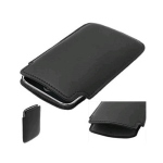 OEM Palm Pre Pre/Plus Leather Sleeve Case - Black (Bulk Packaging)