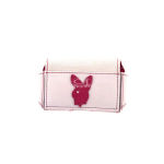 Playboy Small Horizontal Belt Pouch with Playboy Pink Rabbit (White)