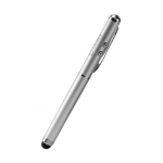 Cellet Touchscreen 4 in 1 Stylus Pen with Laser Pointer and Ink Pen (Silver)