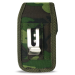 Reiko - Army Green Camouflage Pattern Rugged Pouch for HTC HD2 T8585 PLUS