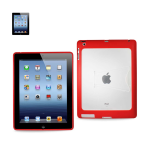 Reiko - PC/TPU Protector Cover with Kickstand for Apple iPad 3 - Red