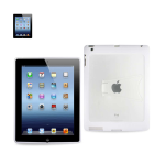 Reiko - PC/TPU Protector Cover with Kickstand for Apple iPad 3 - White
