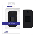 ALCATEL GO FLIP SNAP DESIGNER SHIELD CASE-BLACK-METRO PKG