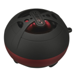 DBEST London Solo Bluetooth Rechargeable Rubberized Mini Speaker PS4011BT-BRB (Black/Red)