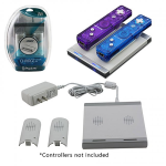 Dual Charge Station With Two Batteries Charger for Wii - White