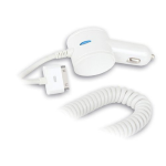 Qmadix Vehicle Power Car Charger for Apple iPod 4, iPhone 4, iPad 1 - White