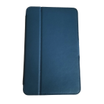 Verizon Folio Case and Screen protector Bundle for Ellipsis 8 - Navy Blue