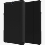 Verizon Folio Case & Tempered Glass Bundle for Ellipsis 8 HD - Black