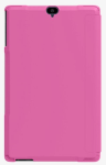 Verizon Sleek Folio Case and Tempered Glass Bundle for Ellipsis 8 HD - Pink