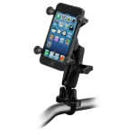 RAM Mounts Rail Mount with Zinc Coated U-Bolt Base and X-Grip for Apple Iphone
