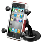 RAM Mounts Adhesive Stick Base Mount X-Grip Cell Phone Holder (RAP-SB-180-UN7U)